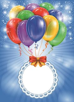 Fondo feliz cumpleaños globos coloridos del vector fijó 03