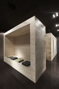Expo Sauna Kyly - dressing space Building Materials, Architects, Dressing, Construction, Shelves, Display, Sauna Ideas, Space, Saunas