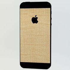 <カーリーメイプル for iPhone 5>背面の上下とアップルマークをデコレーションすることができます。 #iphone #tech #case #skin #accessory #fashion #geek #sexy #apple #technology #products #design #wood
