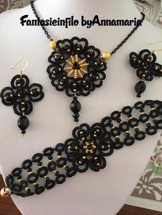 Сохраненные фото мастериц. №82 Tatting Necklace, Tatting Patterns, Diy And Crafts, Drop Earrings, Bracelets, Jewelry, Lace, Needlepoint, Armband