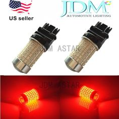 JDM ASTAR 3156 3056 Red 144-SMD Car Tail Stop Brake Light Super Bright LED Bulbs #JDMASTAR