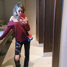 Pin for Later: 25 #OOTDs That Prove Jaden Smith's Girlfriend Sarah Snyder Is a Style Star to Watch A Look With I-Woke-Up-Like-This Flair, Complete With a Fendi Bag