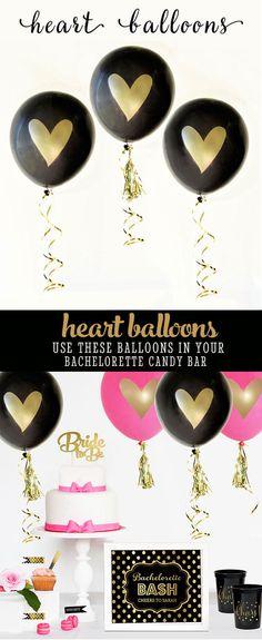 Bachelorette Party Decorations Bachelorette Backdrop Decor Bachelorette Photo Props Bachelorette Party Ideas (EB3110HRT) - SET of 3 Balloons