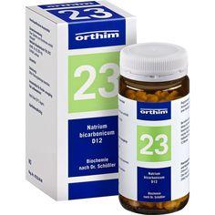 BIOCHEMIE Orthim 23 Natrium bicarbonicum D 12 Tab:   Packungsinhalt: 400 St Tabletten PZN: 04532857 Hersteller: Orthim KG Preis: 5,68 EUR…