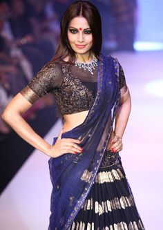 sheer lehenga/sari blouse but high necked