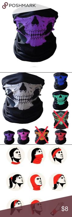 Outdoor Triangle Scarf Colorful Face Mask Graffiti Camouflage Skeleton Printing Motorcycle Cycling Bandana Neck Warmer Men's Masks Apparel Accessories