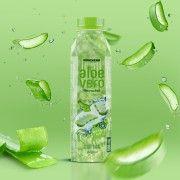 Refresco de aloe vera, con delicioso sabor y grandes trozos de aloe, sin gluten ni aloina, vegano y sano, tiene un 30 % de aloe vera.