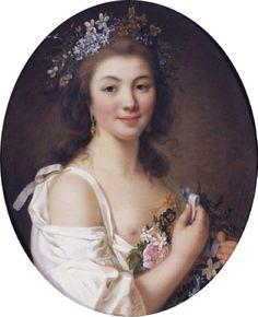 Portrait Of Madame De Genlis (1781).Marie-Victoire Lemoine (1754-1820). Oil on canvas.