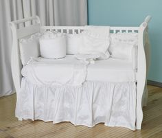 Scrumptious fabrics make up this unique luxury Unisex baby cot or cot-bed bedding set from Maddie boo. The perfect #christmasgift for baby available at The Baby Cot Shop ____________ #babybedding #luxuryfabrics #embroidery #luxurybedding