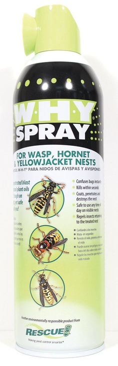 Sterling Intrntl Rescue-W-h-y Spray For Wasp Hornet & Yellow Jacket Nests 14 Ounce