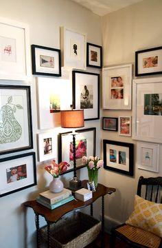 Gallery wall corner by Elizabeth of Little Black Door, via Danielle Oakey Interiors