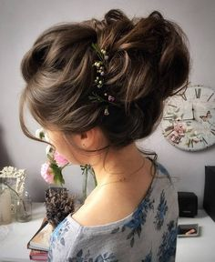 Tonya Pushkareva Long Wedding Hairstyle for Bridal via tonyastylist / http://www.himisspuff.com/long-wedding-hairstyle-ideas-from-tonya-pushkareva/16/