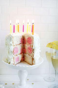 Too cute! polka dot cake