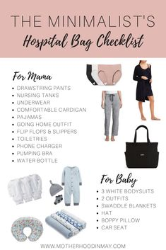 Is your hospital bag ready? Use our hospital bag checklist to pack for both you and baby. clothes, skincare, and health items. Baby Outfits, Baby Boys, Yoga Fitness, Yoga Training, My Bebe, Baby Checklist, Diaper Bag Checklist, Preparing For Baby, Baby Arrival