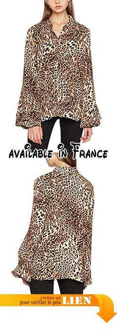 B071YGVKGM : GESTUZ Christine Shirt MA17 Blouse Femme Braun (Leopard 90154) 38.