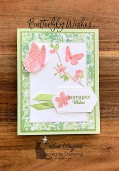 "Lavender embossed with flowers and butterflies 5/"" x 3 /¾/"" Card /& matching envelope for any occasion Set of 6 EA."