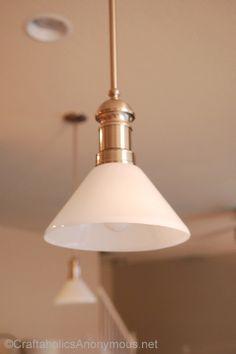 simple pendant light makeover #GELighting