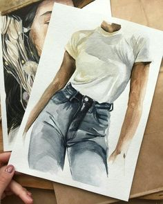 Schnell etwas skizzieren, aber sie hat ein bisschen - Kunst Quickly sketch something, but it has a bit - art Fashion Sketches, Art Sketches, Art Drawings, Drawing Fashion, Fashion Painting, Watercolor Fashion, Illustration Mode, Watercolor Illustration, Guache