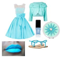 """""""Outfit color turquesa"""" by turbopeka on Polyvore featuring moda, MIA, JINsoon y Liz Claiborne"""