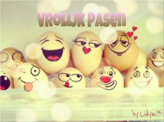 Vrolijk pasen! Happy Birthday Images, Happy Birthday Wishes, Christmas Greetings, Christmas Time, Holiday, Emoticon, Happy Easter, Special Day, Easter Eggs