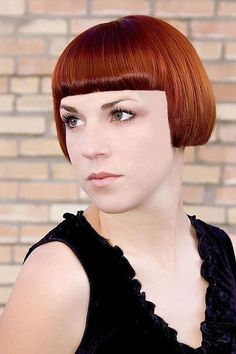 64 Wavy Bob Hairstyles That Look Gorgeous And Stunning - Hairstyles Trends Bob Haircut With Bangs, Short Bangs, Short Hair Cuts, Straight Bangs, Stacked Bob Hairstyles, Short Bob Haircuts, Short Bob Styles, Long Hair Styles, Chin Length Hair