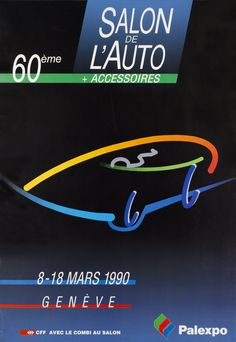 Geneva Car-Show 1990 Impression Offset, Car Show, Vintage Posters, Company Logo, Tech Companies, Logos, Travel, The Originals, History Of Advertising