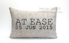 "at ease pillow, military retirement gift, military gift, army gift, navy gift, air force gift - ""At"
