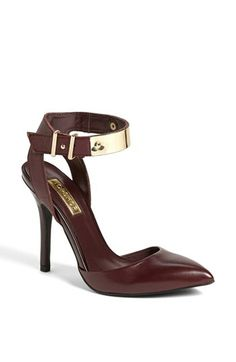gold and oxblood cuff heels @Nordstrom