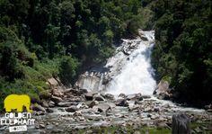 Salto Velo de Novia Alejandria - Antioquia. Una de las atraccciones de Golden Elephant Hostel