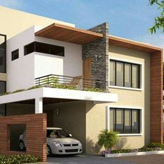 It's Prime; It's Peaceful Royal Sunnyvale is a world-class community of villas conceived and developed by MS Shelters . Bungalow House Design, House Front Design, Modern House Design, H Design, Villa Design, Design Ideas, House Elevation, Facade House, Exterior Design