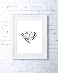 Diamond Printable Art - Black and White…