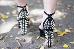 Spiked heels.