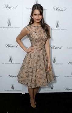 Nina Dobrev | Weinstein Company Academy Award Party • Dress: Zuhair Murad | Spring-Summer 2013 Collection • Earrings: Carla Amorim • Shoes: Stuart Weitzman • February 23, 2013