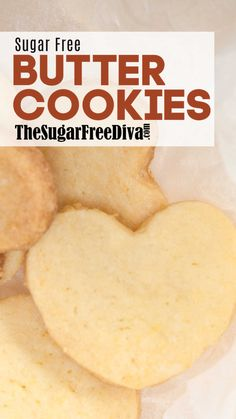 Sugar Free Butter Cookies, cookie recipe that is perfect for the holiday season or any time of the year! Sugar Free Cookie Recipes, Sugar Free Deserts, Sugar Free Baking, Sugar Free Treats, Sugar Free Cookies, Butter Cookies Recipe, Keto Cookies, Healthy Cookies, Healthy Bars