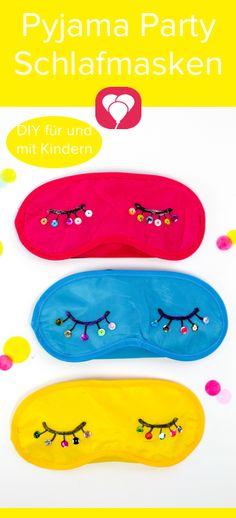 Schlafmaske als #Einladungskarte oder cooles #DIY für den #Kindergeburtstag! Bei dieser #Schlafmaske machen alle kleinen Übernachtungsgäste große Augen. Ob als ausgefallene #Einladung oder buntes DIY beim Kindergeburtstag - die Schlafmasken sind nicht nur super süß sondern machen allen Kids richtig Spaß! Wir zeigen Dir, wie Du sie bastelst und was Du dazu brauchst auf unserem Blog auf balloonas.com #balloonas #kindergeburtstag #sleepoverparty #übernachtungsparty #pyjamaparty #basteln