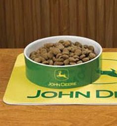John Deere Pet Bowl Size: Large * Click on the image for additional details. (This is an affiliate link and I receive a commission for the sales)
