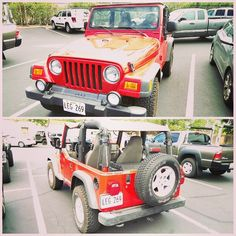 Red Jeep Wrangler for this week's #tbt