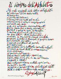 Rafael Alberti Il Lirismo dell ' Alfabeto Poema