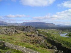 Landskab ved Thingvallir, verdens ældste parlament fra 930