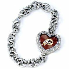 Ladies NFL Washington Redskins Heart Watch Jewelry Adviser Nfl Watches. $59.95