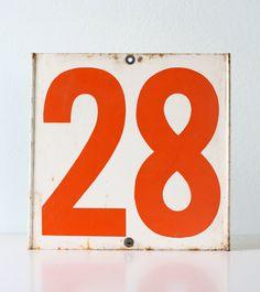 Vintage Gas Station Metal Numbers