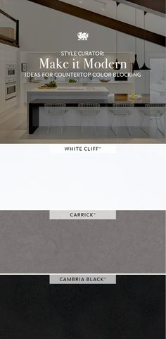 Get tips for pairing Cambria quartz designs, countertop color-blocking, and other mid-century modern design ideas from Cambria Style magazine. Cambria Quartz Countertops, Mid Century Modern Design, Innovation Design, Color Blocking, Mid-century Modern, Design Ideas, Magazine, Live, Architecture