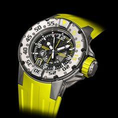 Richard Mille Sponsors Les Voiles de Saint Barth - Richard Mille RM 028 diver's watch in titanium 2013 #RichardMille #luxurywatches