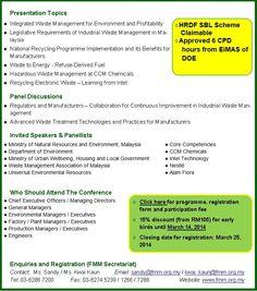 FMM Industrial Waste Management Conference 2014
