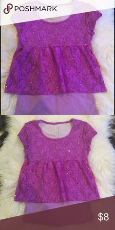Justice Girls Purple Top Very good condition size S 7/8 Justice Shirts & Tops Tees - Short Sleeve
