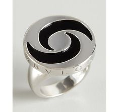 estate jewelry bulgari white gold and onyx spin ring style