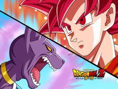 DRAGON BALL Z IS THE ISH!!!: SSJ God Goku Vs. Bills