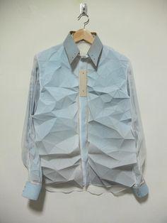 Designers criam tecidos com efeitos tridimensionais inspirados nas dobraduras de origamis stylo urbano-9