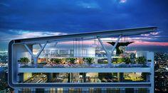 En (næsten surrealistisk!) visuel oplevelse at se MISSONIs  bygninger/hoteller...   Ekstrem og futuristisk!    MOCO LOCO Galleries | Acqua Livingstone tower by MISSONIHOME