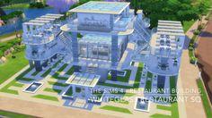 The Sims 4 - Restaurant Building - WhiteGlass Restaurant SQ